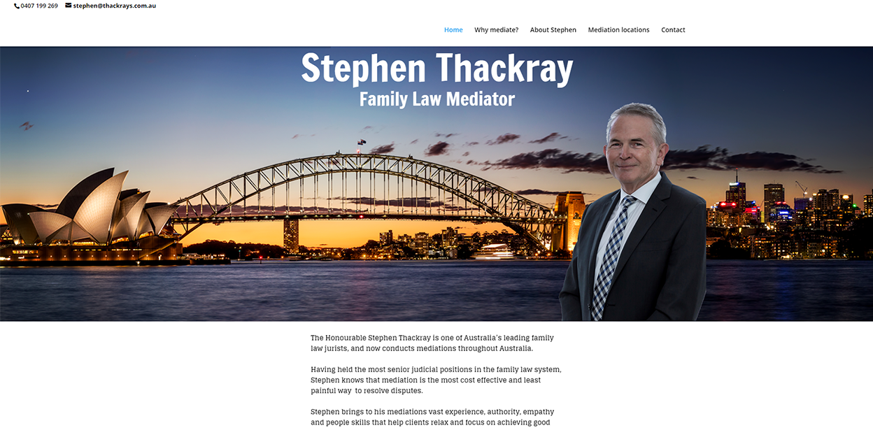 Stephen Thackray: Family Law Mediator