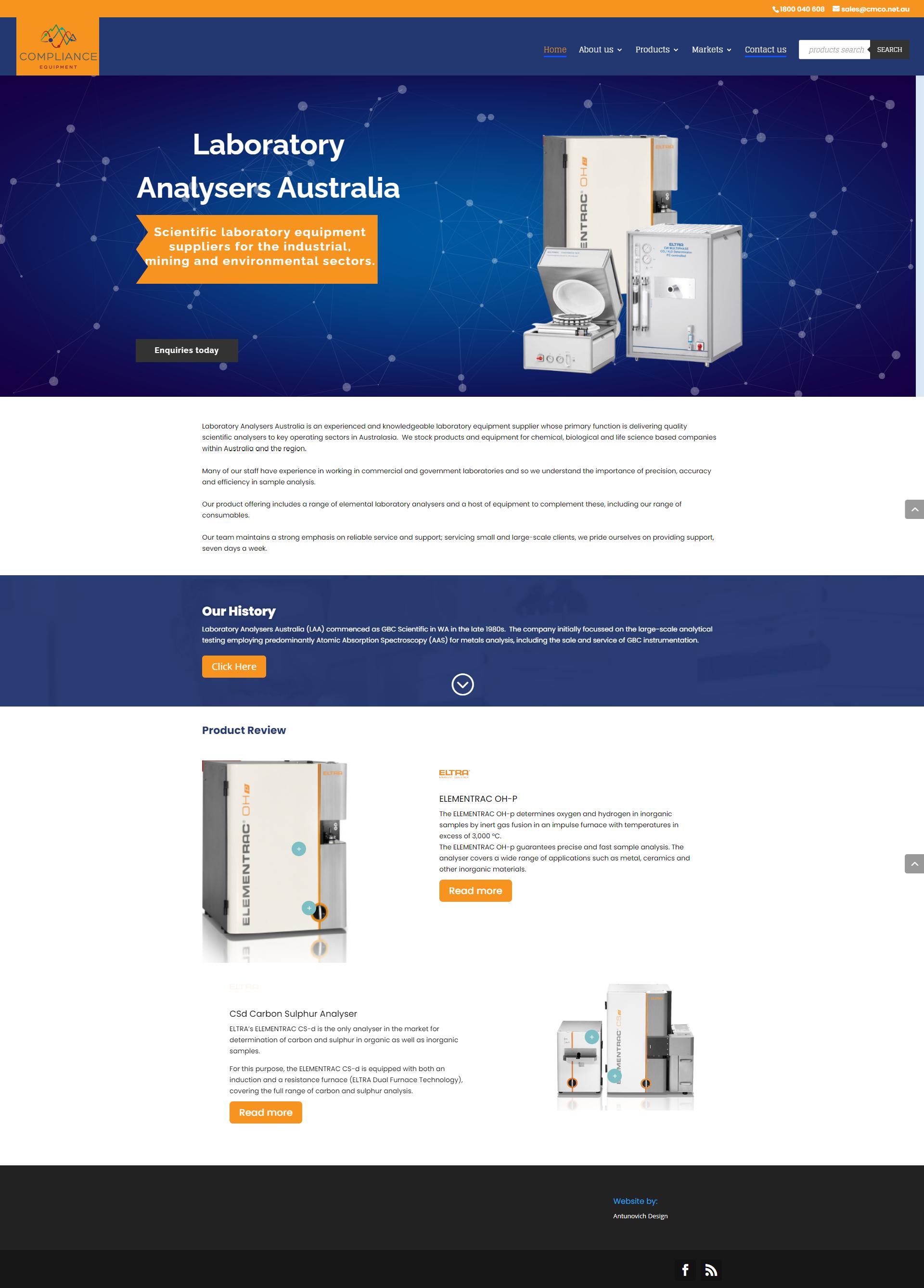 The new Laboratory Analysers  Australia website